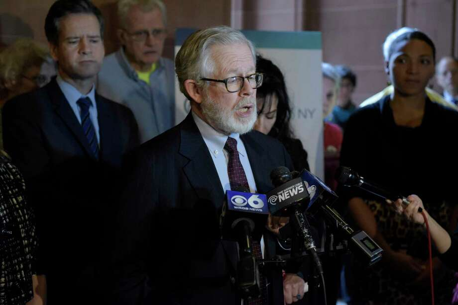 State Assemblyman Richard Gottfried talks about his support for medical aid in dying legislation during a press conference at the Capitol on Monday, Jan. 23, 2017, in Albany, N.Y.    (Paul Buckowski / Times Union) Photo: PAUL BUCKOWSKI / 20039501A