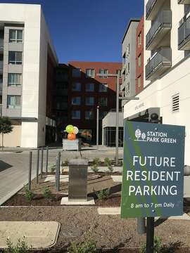 Station Park Green is a new apartment complex developed by Essex Property Trust, near its headquarters in San Mateo. August 3, 2018. Photo by Kathleen Pender/The Chronicle.