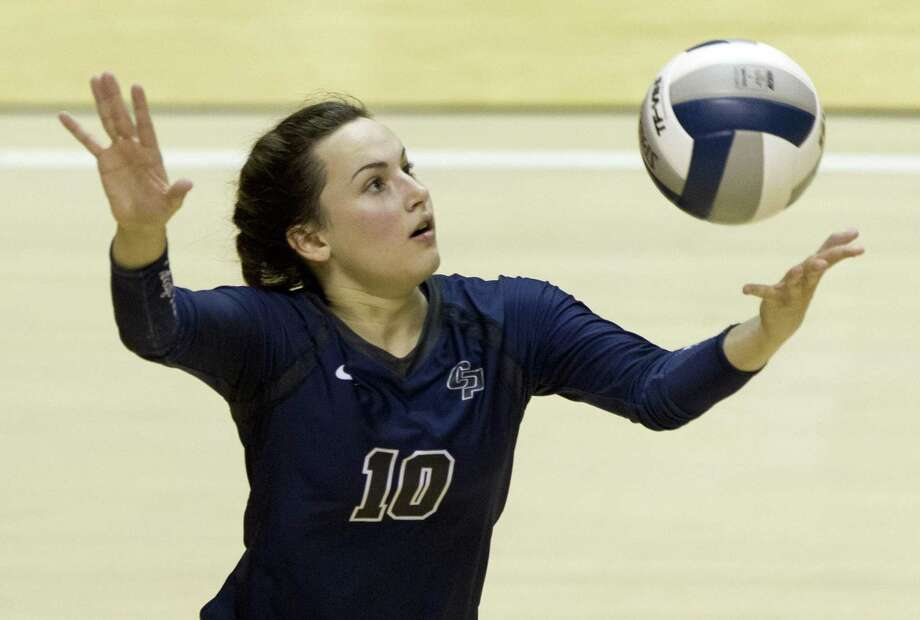 College Park defensive specialist Jill Bohnet (10) serves the ball during the first set of a Region II-6A semifinal match at Johnson Coliseum, Friday, Nov. 10, 2017, in Huntsville. Photo: Jason Fochtman, Staff Photographer / Houston Chronicle / © 2017 Houston Chronicle