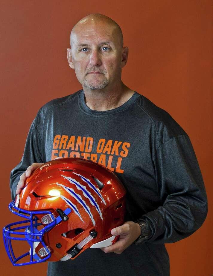 Grand Oaks head football coach Mike Jackson poses for a portrait at Grand Oaks High School on Wednesday, Aug. 1, 2018. Photo: Jason Fochtman, Staff Photographer / Houston Chronicle / © 2018 Houston Chronicle