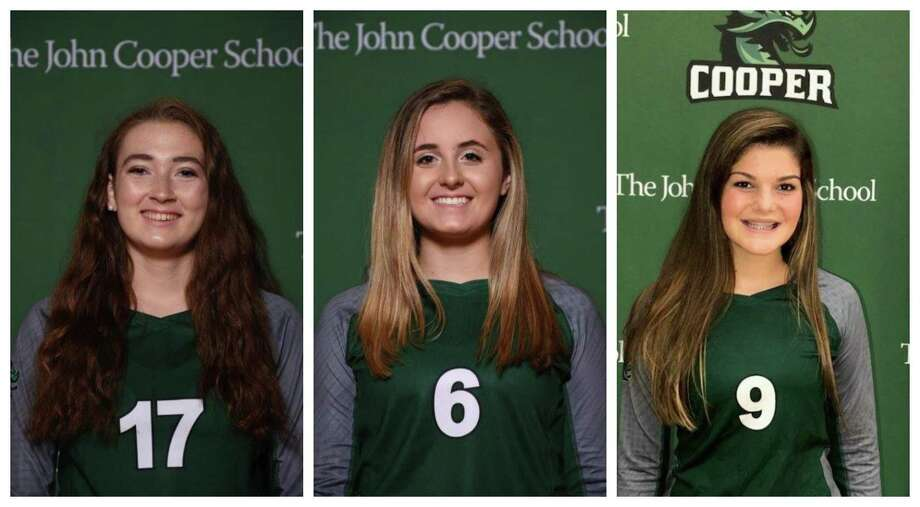 From left: Anna Claire Adam, Abby Frazier and Peyton Tague will be a few of the key players for Cooper this season. Photo: Submitted Photos
