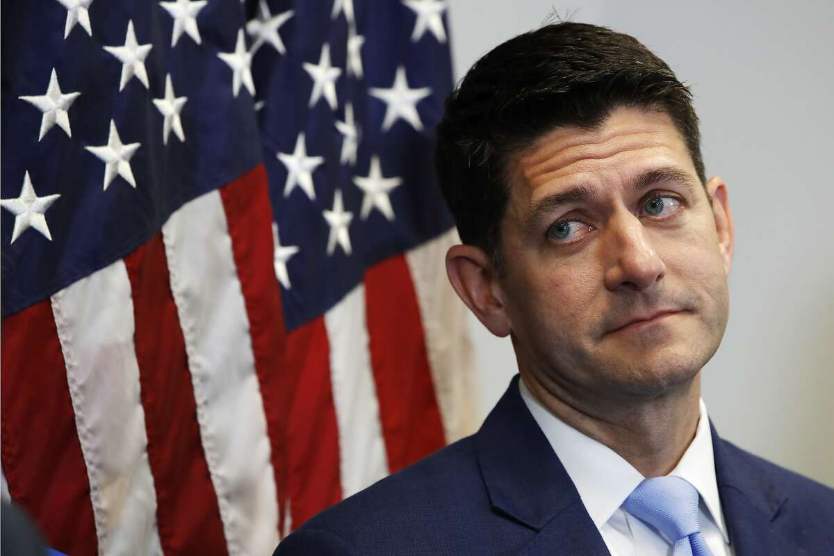 House Speaker Paul Ryan of Wis., attends a news conference following a GOP caucus meeting, Tuesday, July 24, 2018, on Capitol Hill in Washington. (AP Photo/Jacquelyn Martin)