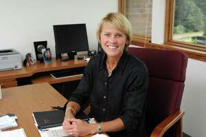 Outgoing CIAC executive director Karissa Niehoff, photographed in the Cheshire headquarters in 2011, began her new job as head of the National Federation of State High School Associations this week.