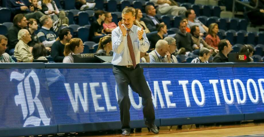 HOUSTON, TX - JANUARY 04:   Rice Owls head coach Scott Pera claps in hands with joy during the basketball game between the Old Dominion Monarchs and Rice Owls on January 4, 2018 at Tudor Fieldhouse in Houston, Texas.  (Photo by Leslie Plaza Johnson/Icon Sportswire via Getty Images) Photo: Icon Sportswire/Icon Sportswire Via Getty Images