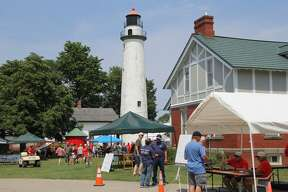 Lighthouse quite an attraction at Pointe aux Barques festival.