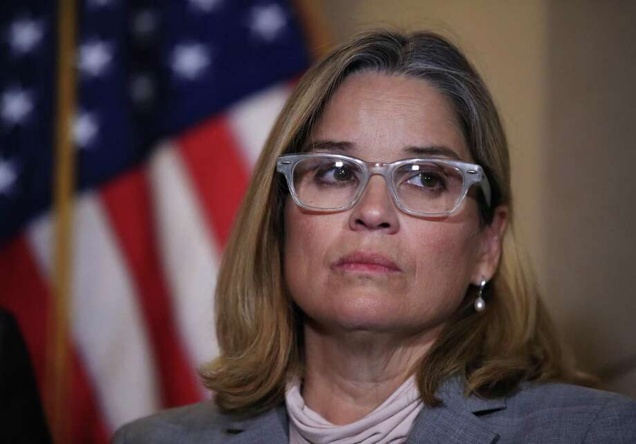 San Juan, Puerto Rico Mayor Carmen Yulín Cruz, attends a House Democratic Leaders news conference with Democratic Caucus Chairman Rep. Joe Crowley, D-N.Y., on Capitol Hill in Washington, Wednesday, Nov. 1, 2017. Cruz on Wednesday questioned why Republicans abruptly postponed a House hearing where she was scheduled to testify about the devastating impact of Hurricane Maria on Puerto Rico. Cruz, who has tangled with President Donald Trump about the federal response, suggested the White House did not want to hear her criticism. (AP Photo/Manuel Balce Ceneta) Photo: Manuel Balce Ceneta, STF / AP / Copyright 2017 The Associated Press. All rights reserved.