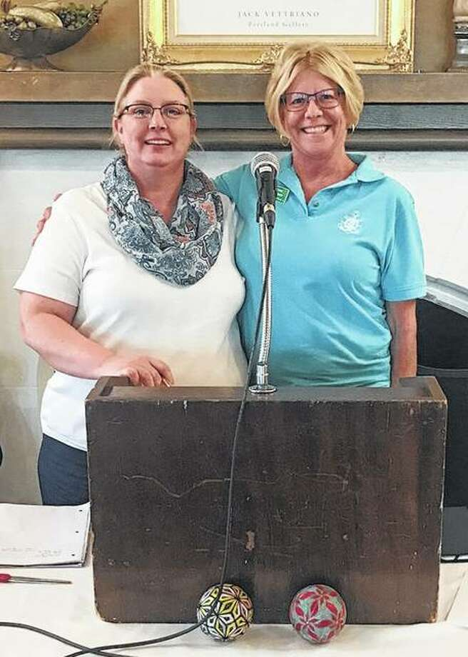 Diane Farmer (right) has been nominated by Pilot Club of Jacksonville to be its 2018-2019 Pilot International Club ambassador. Farmer, shown with club President Tina Young, is active in assigned roles within the club projects and fundraisers, promotes and supports Pilot International and its activities, and is faithful in attending meetings. Photo:       Photo Provided