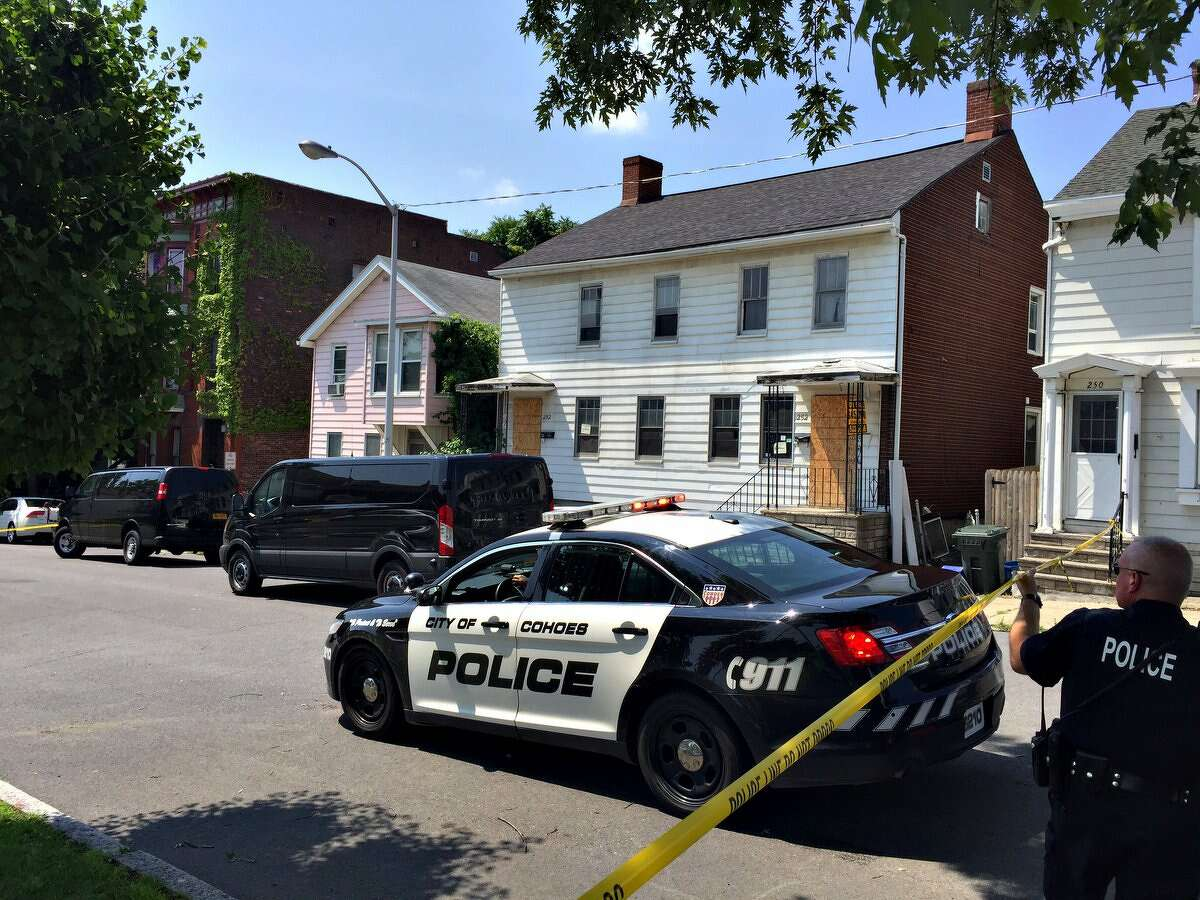 A man was shot dead in Cohoes on Remsen Street early Sunday by a resident who said the man was breaking into their home. (Paul Buckowski/Times Union)