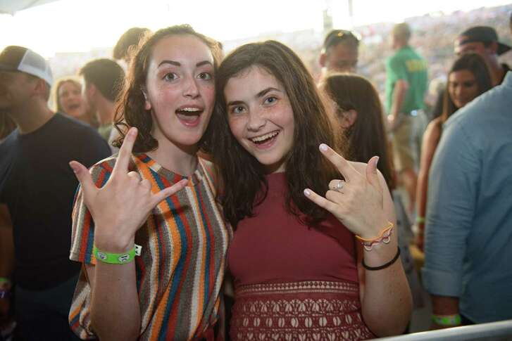 Fans of Imagine Dragons Concert at Cynthia Woods Mitchell Pavilion on Saturday, August 4, 2018