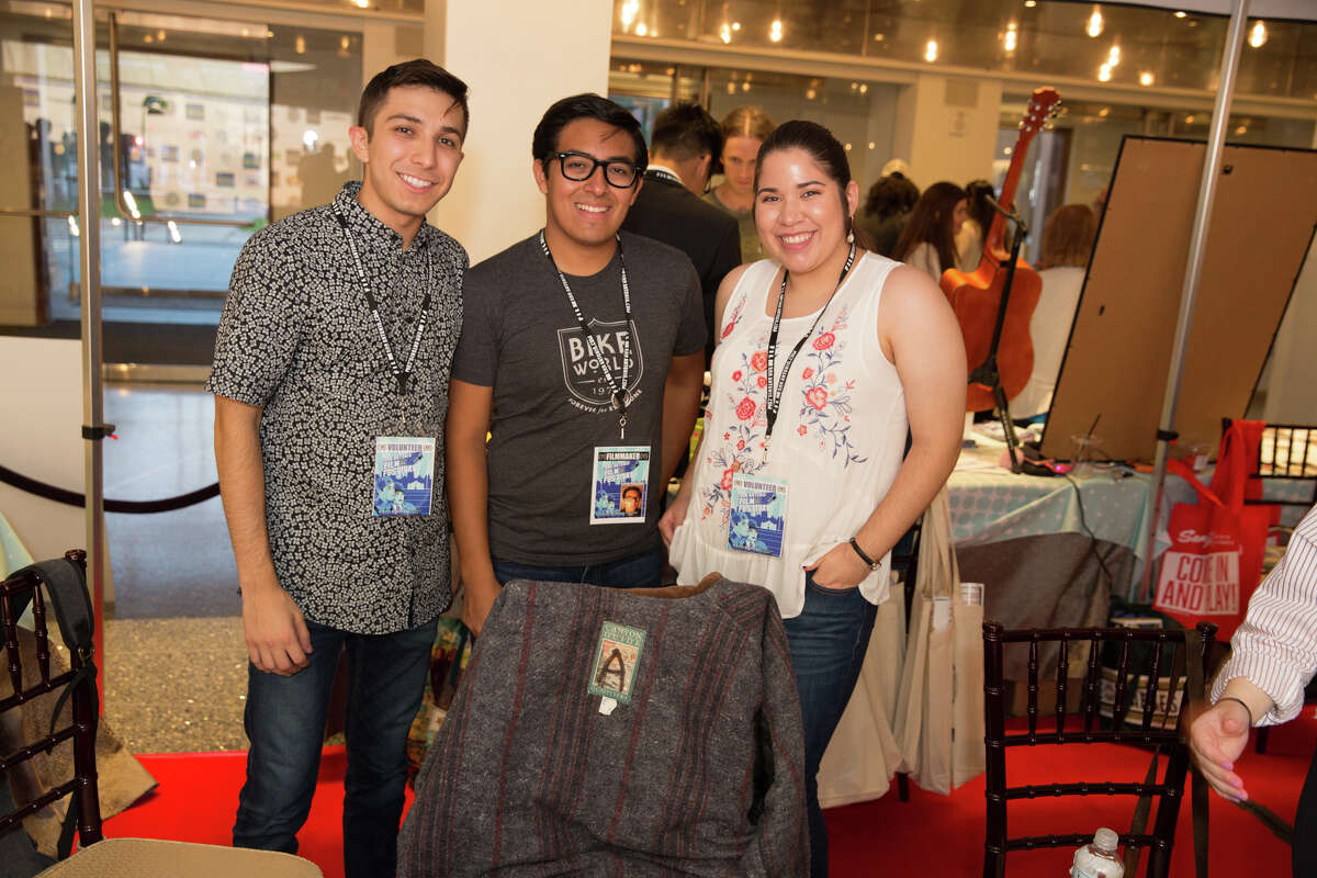 Crowds took a break from motion pictures and posed for stills at the 24th annual San Antonio Film Festival on Saturday at the Tobin Center for the Performing Arts.
