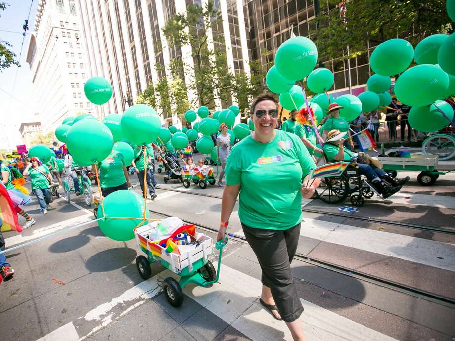 Ten years ago, Nichole Mustard took a 60% pay cut and moved her family across the country to found Credit Karma – a startup that today employs 800 people and is valued at $4 billion. Photo: Credit Karma