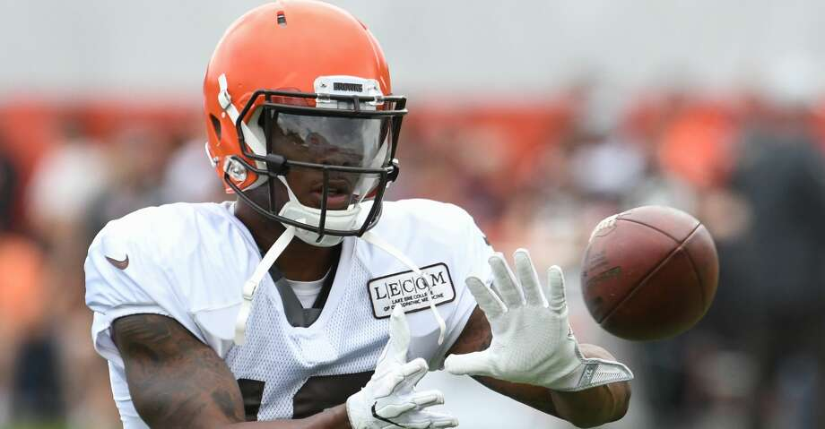 BEREA, OH - JULY 30: Wide receiver Corey Coleman #19 of the Cleveland Browns catches a pass during a training camp practice on July 30, 2018 at the Cleveland Browns training facility in Berea, Ohio. (Photo by Nick Cammett/Diamond Images/Getty Images) Photo: Diamond Images/Diamond Images/Getty Images