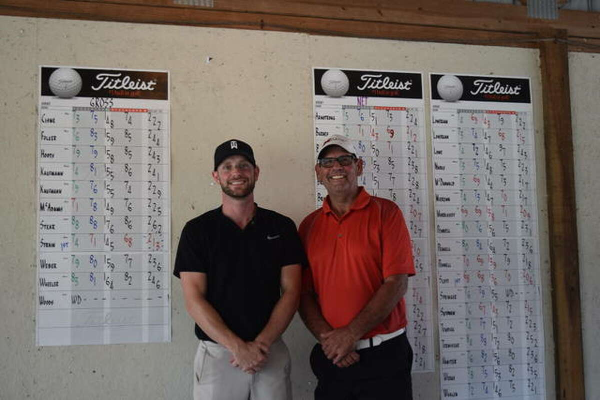Mark Strain (left) and Doug Scott won titles at the Jacksonville City Golf Tournament on Sunday.