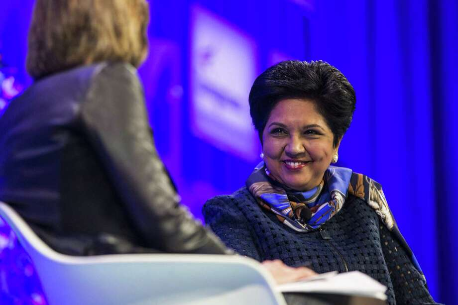 Indra Nooyi of PepsiCo, at Fortune's Most Powerful Women conference in Washington, D.C. on Oct. 10, 2017. Photo: Bloomberg Photo By Zach Gibson / © 2017 Bloomberg Finance LP