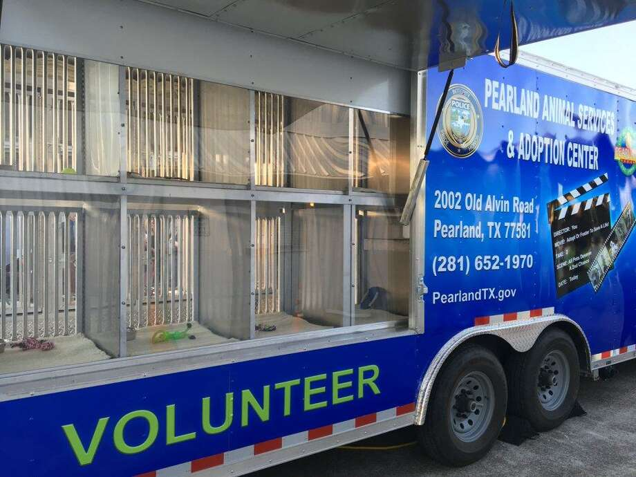 The nonprofit Pearland Pets donated this mobile unit to City of Pearland Animal Services. The $80,000 trailer provides a place for pets during mobile adoption events and also will provide lodging and medical care during disasters.