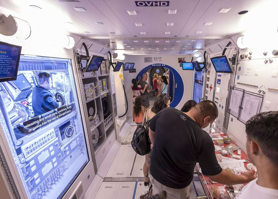 Visitors tour Orion modules in the Space Camp program at the U.S. Space and Rocket Center in Huntsville, Ala. Photo: Vasha Hunt / Associated Press