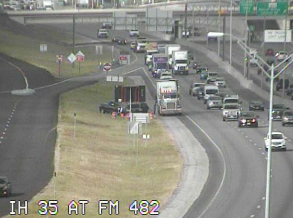 The victim, an unidentified man in his 70s, was walking in the right lane of traffic in the 18500 block of Interstate 35 North at 6:09 a.m. when he was struck.