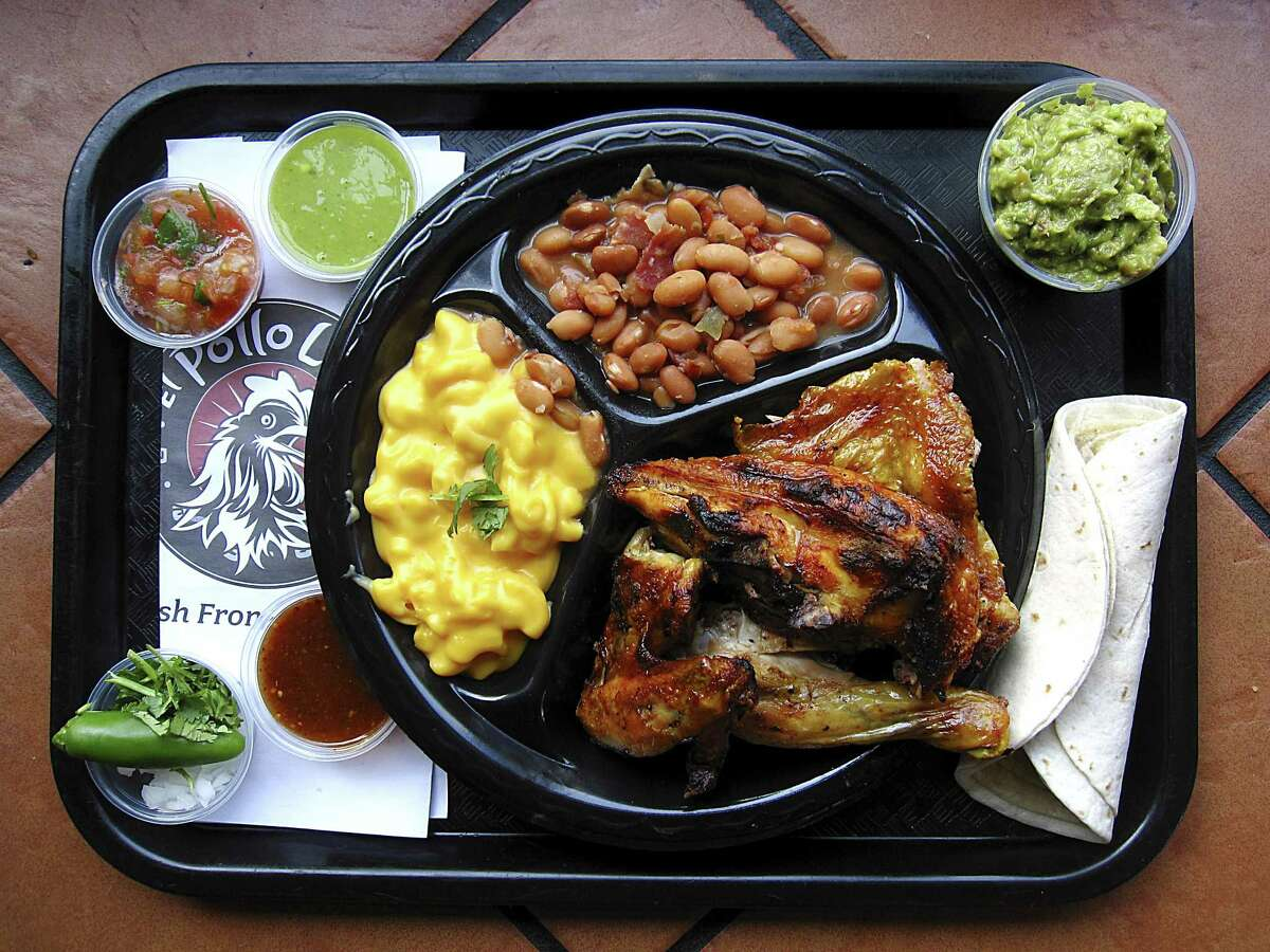 9. El Pollo Loco With nine locations in San Antonio alone, El Pollo Loco's the fast-food answer to your pollos craving. In this modern setting with stenciled glass, earth-tone decor and a salsa bar, the open flames create charred edges and bubbled golden skin ($9.99 for half a chicken with two sides, tortillas, salsa and a drink). 7327 San Pedro Ave., 210-709-7451, more locations at elpolloloco.com. 10:30 a.m.-10 p.m. daily.