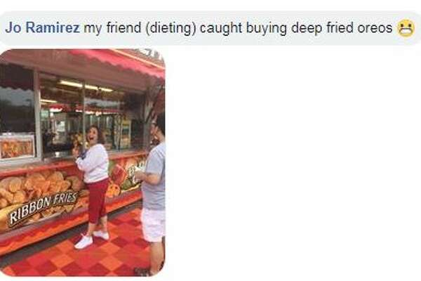 "Jo Ramirez: ""my friend (dieting) caught buying deep fried oreos"""