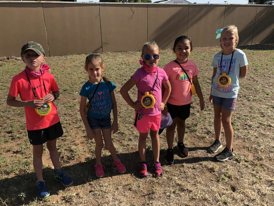 Girl Scouts:  Lanie Burch, from left, Tatum Parker, Ryleigh Ramirez, Mila Ybarra and Bailey Brown Photo: Courtesy Photo