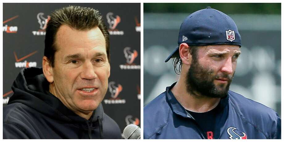 Former Texans coach Gary Kubiak and Texans assistant coach Wes Welker headline the 2018 class of Gridiron Legends. Photo: Associated Press