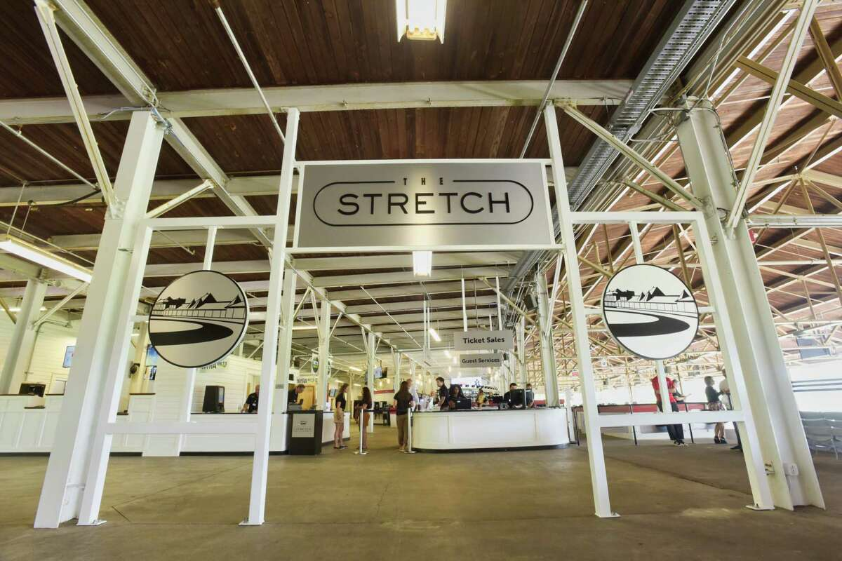 A view of the entrance to the new area called The Stretch at the Saratoga Race Course on Monday, Aug. 6, 2018, in Saratoga Springs, N.Y. (Paul Buckowski/Times Union)