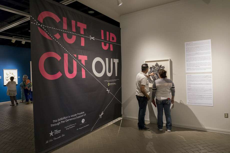 Cut Up/Cut Out exhibit opened Thursday, July 19 at the Ellen Noel Art Museum. Photo: Jacy Lewis/191 News