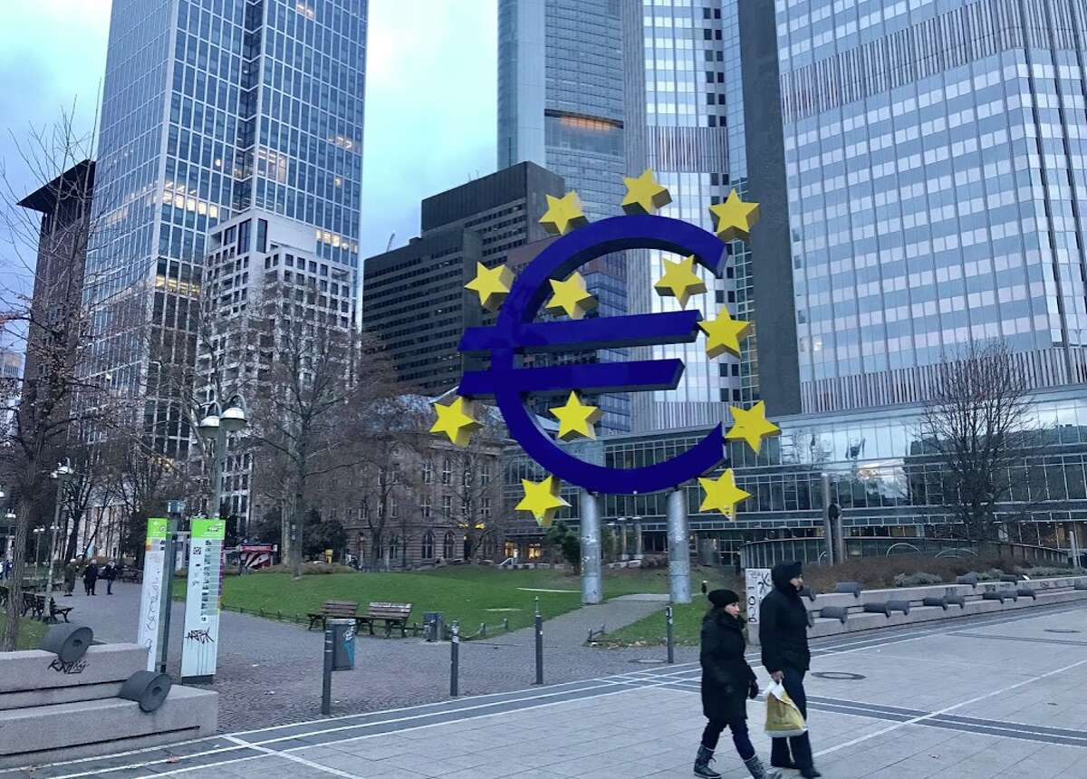 Checking out Frankfurt in winter, home to the European Central Bank