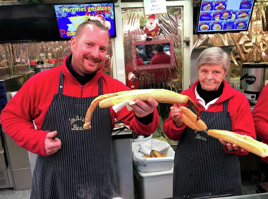 Meter-long sausages are the local favorite in Passau, Germany Photo: Chris McGinnis