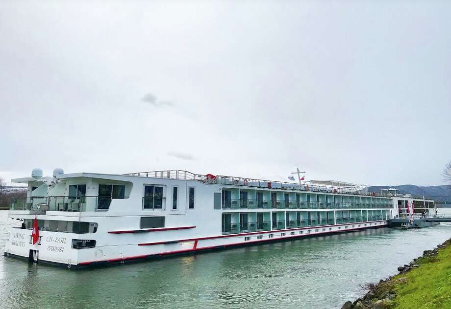 The Viking Gullveig is 443 feet long and carries 190 passengers. Here docked in Krems, Austria on the Danube River  Photo: Chris McGinnis