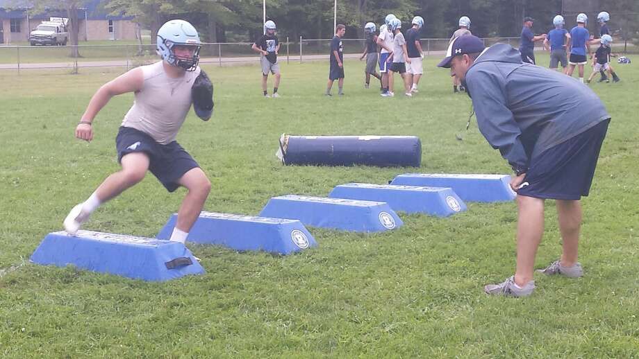Scenes from the first day of Meridian football practice on Monday, Aug. 6, 2018. (Fred Kelly/fred.kelly@mdn.net) Photo: (Fred Kelly/fred.kelly@mdn.net)