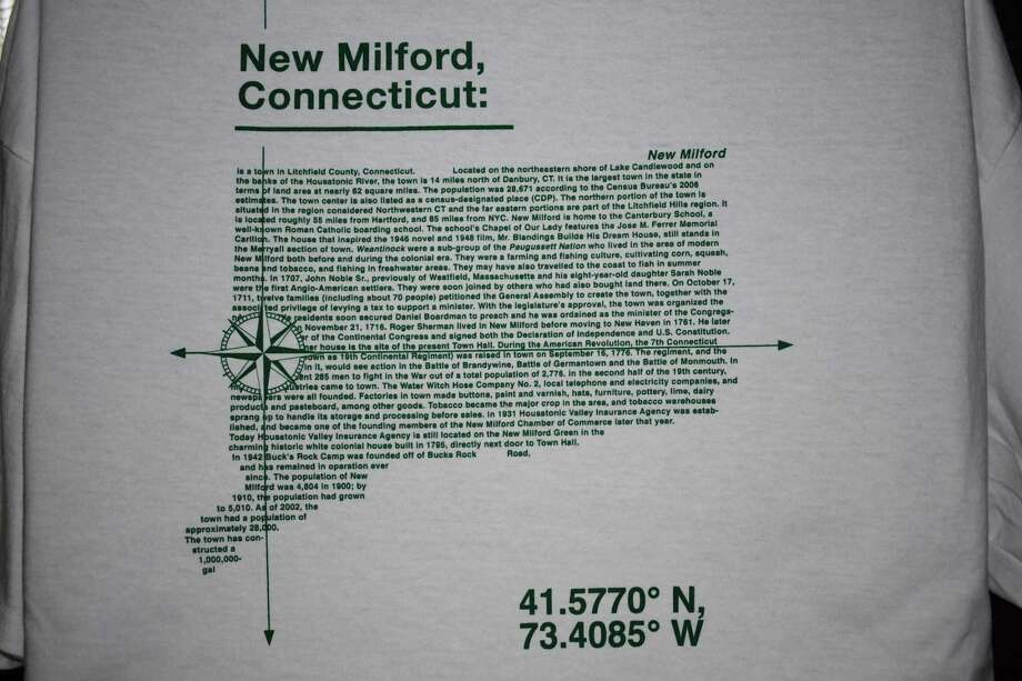Back of the New Milford coordinates shirt. Photo: Contibuted Photo /