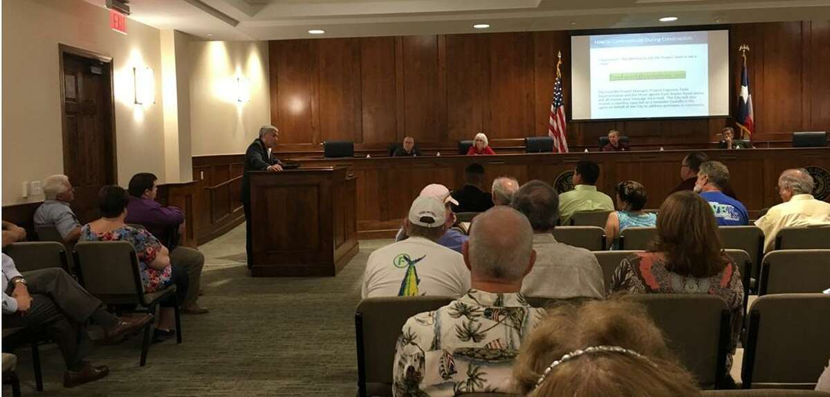 Ralph Saldana, project manager and partner of Costello Inc., told Pine Forest residents at a July 31 meeting at Katy City Hall that flood mitigation projects are scheduled to start in mid-August in their neighborhood.