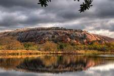 """Enchanted Rock State Natural AreaThe iconic pink granite dome in Central Texas has been a popular site for years, but people can get away from the crowds at many of the park's remote campsites. Where: Fredericksburg, TexasPeople per site:4Price per night for """"primitive"""" campsite:$14 nightly plus daily entrance fee"""