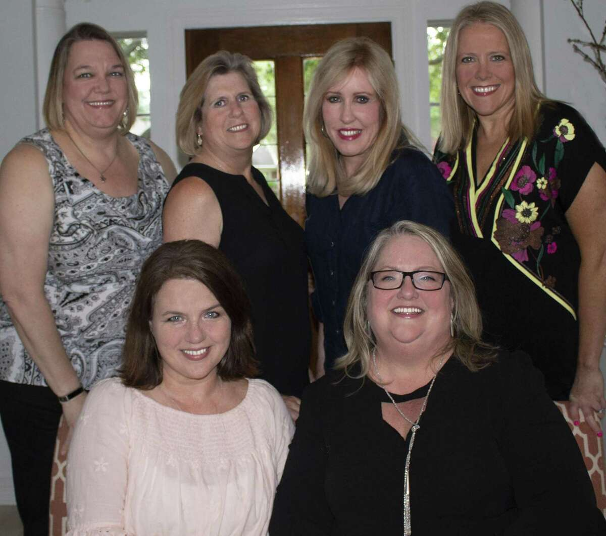 Fort Bend County Alumnae Panhellenic announces its executive board for 2018-19. From left are front row:Co-Presidents Amy McInnis and Susan Mallios; back row:Treasurer Carroll Ann Adams, Secretary Terrie Gornet, Co-Past President Liz Furman and Vice President Debbie Buckner. Not pictured is Past Co-President Kathy Keene.