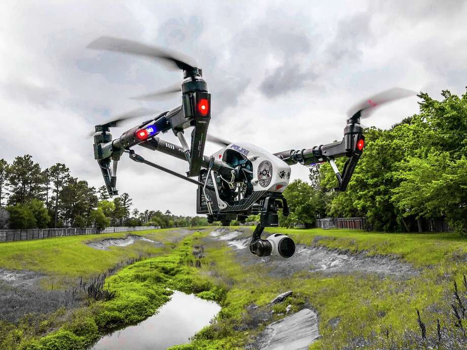 The Memorial Villages Police Department received two drones about six weeks ago as a donation from the MVPD Police Foundation. The drones can be inexpensively and quickly deployed to provide aerial footage to help with traffic and aid in emergency situations like Hurricane Harvey. Photo: Courtesy Photo