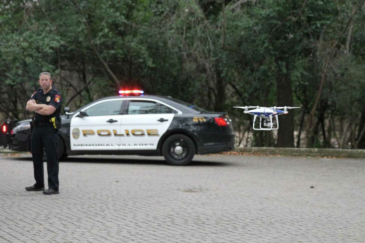 Police Officer Larry Boggus brought his personal drone to work with him during Hurricane Harvey and learned how useful it could be for police work. Now, he is Memorial Villages Police Department's first UAV (unmanned aerial vehicle) pilot of its two drones.