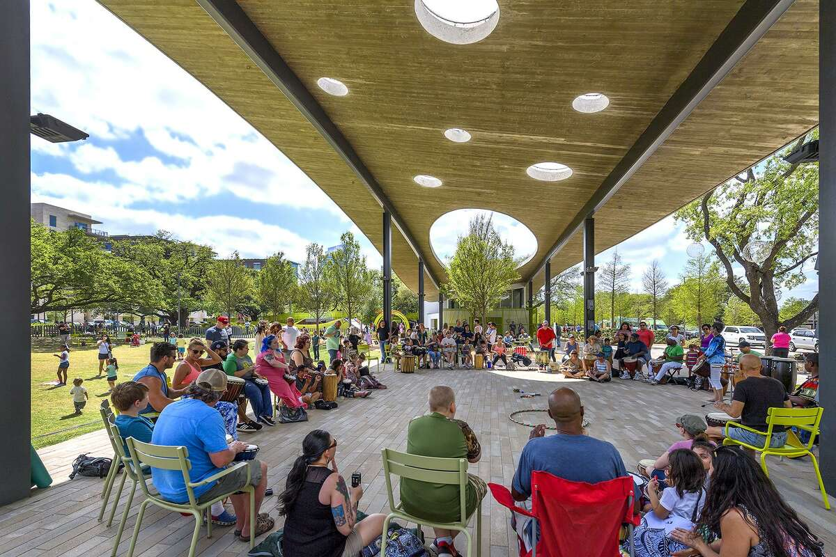 Join Sunday Drum Jam at Levy Park this Sunday.