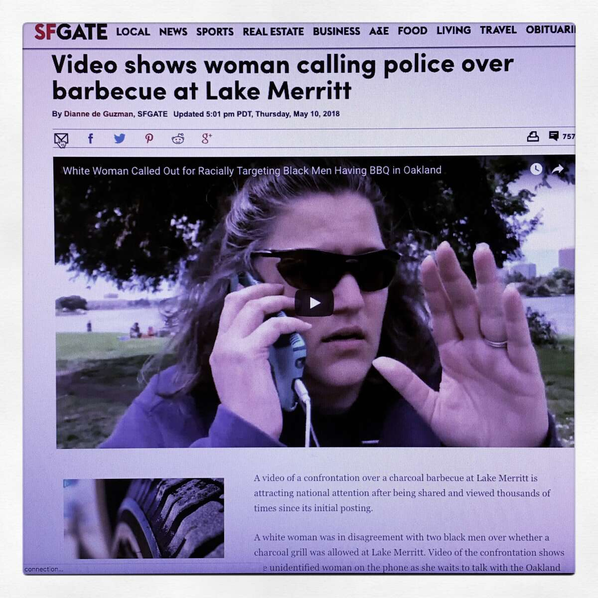 Calling 911 on people of color who are barbecuing, napping, selling lemonade, and otherwise just living their lives There was Barbecue Becky, Permit Patty and many other incidents (that didn't make national headlines) of people calling 911 on people for ordinary, non-criminal activities. The