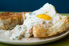Snooze, an A.M. Eatery, a Denver-based restaurant specializing in breakfast and brunch dishes, will open its second San Antonio location on Sept. 5. Shown is the breakfast pot pie.