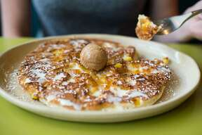 Snooze, an A.M. Eatery, a Denver-based restaurant specializing in breakfast and brunch dishes, will open its second San Antonio location on Sept. 5. Shown: Pineapple upside down pancakes.