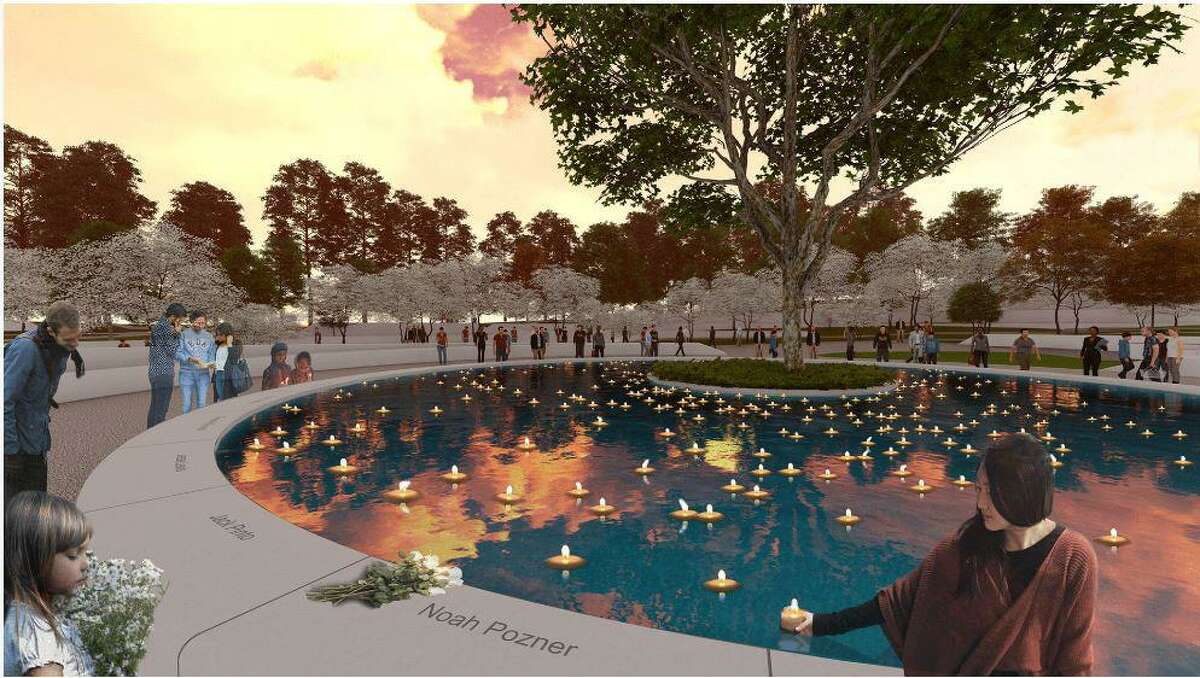 """An artist?'s rendering of ?""""The Clearing,?"""" which has been selected as the winning memorial design by the Sandy Hook Permanent Memorial Committee."""