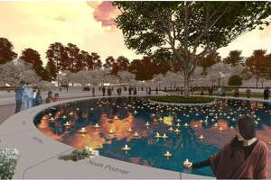 "An artist's rendering of ""The Clearing,"" which has been selected as the winning memorial design by the Sandy Hook Permanent Memorial Committee."