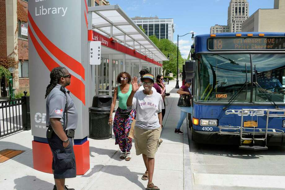 A proposed statewide expansion of a downstate surcharge on car rentals  could fund improved services for upstate transit systems, including the  Capital District Transportation Authority. (John Carl D'Annibale/Times Union) Photo: John Carl D'Annibale / 40044331A