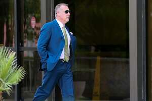 Former FourWinds Logistics CEO Stan Bates arrives at the federal courthouse for sentencing on Aug. 6. The setencing was delayed but Bates was taken into custody. In January, he pleaded guilty to eight felonies, including securities fraud and money laundering, rather than stand trial with former state Sen. Carlos Uresti and FourWinds consultant Gary Cain.