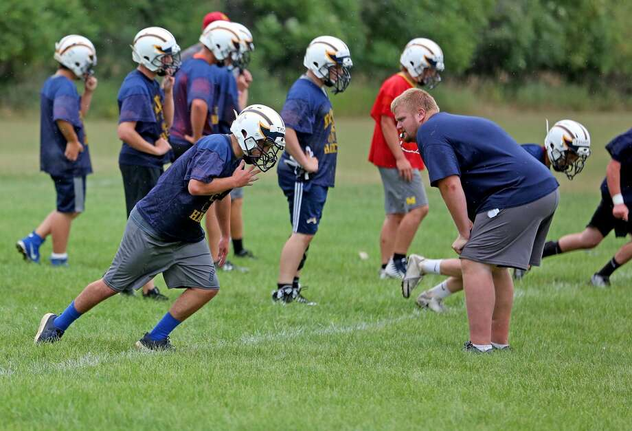 Bad Axe football practice 2018 Photo: Paul P. Adams/Huron Daily Tribune