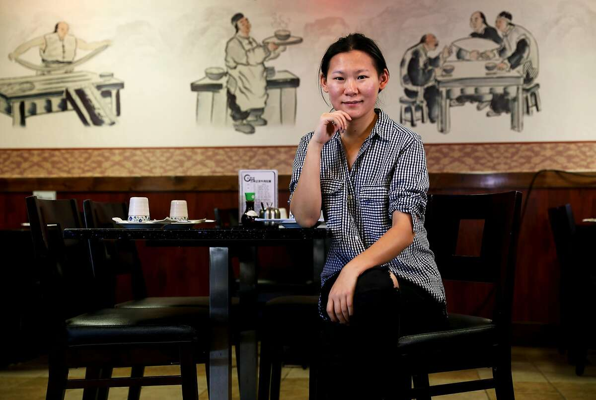 Chelsea Zhang, 23, poses for a portrait in her restaurant, Shinry Lamian, in Fremont, Cali. on Wednesday, August 1, 2018. The restaurant, located at 3625 Thornton Ave., serves hand-pulled noodles (lamian).
