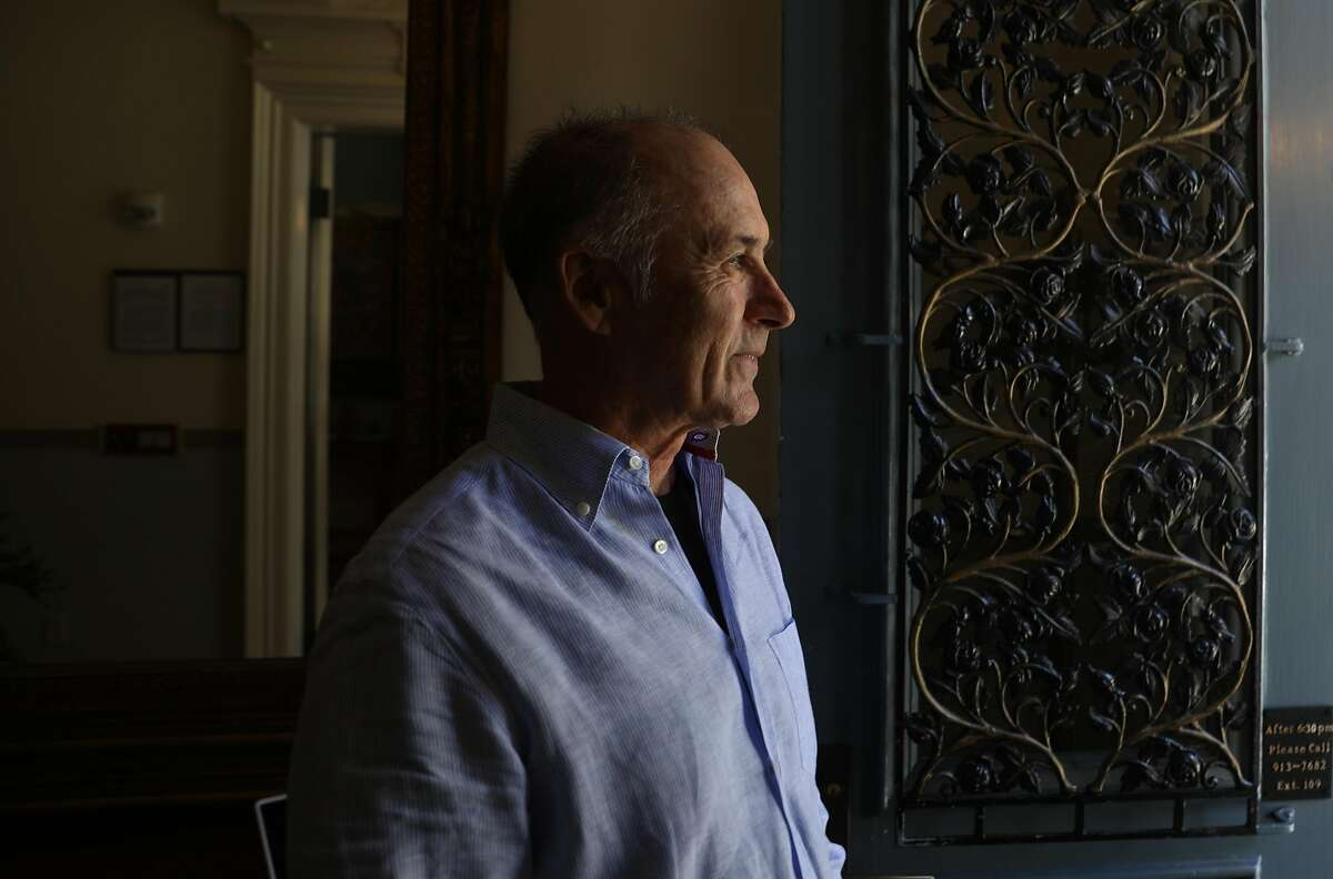 CEO George Keller seen looking out the front door of the Zen Hospice Guest House on Monday, July 16, 2018 in San Francisco, Calif. The Zen Hospice Guest House which has provided people with a place to die in grace and dignity is shutting down after thirty years due to lack of revenue.