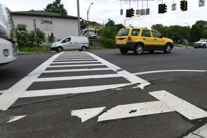 Pedestrian crosswalk on 787 at Bridge Street on Monday, June 5, 2017, in Cohoes, N.Y. Work begins this month on the $10.7 million Cohoes Boulevard project to make safety improvements along the four-lane highway where three pedestrians were killed over 15 years crossing the busy road, better known as the northern stretch of Route 787. (Will Waldron/Times Union archive)