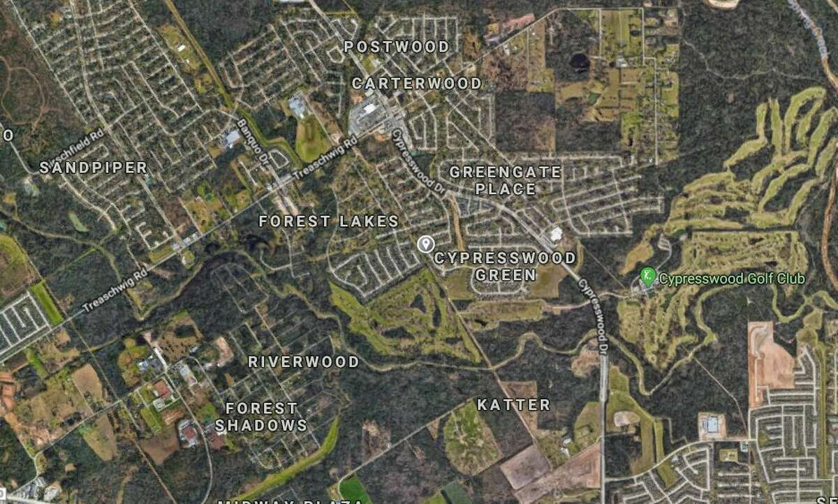 Google Maps satellite image showing area where a home was raided in a child pornography investigation.